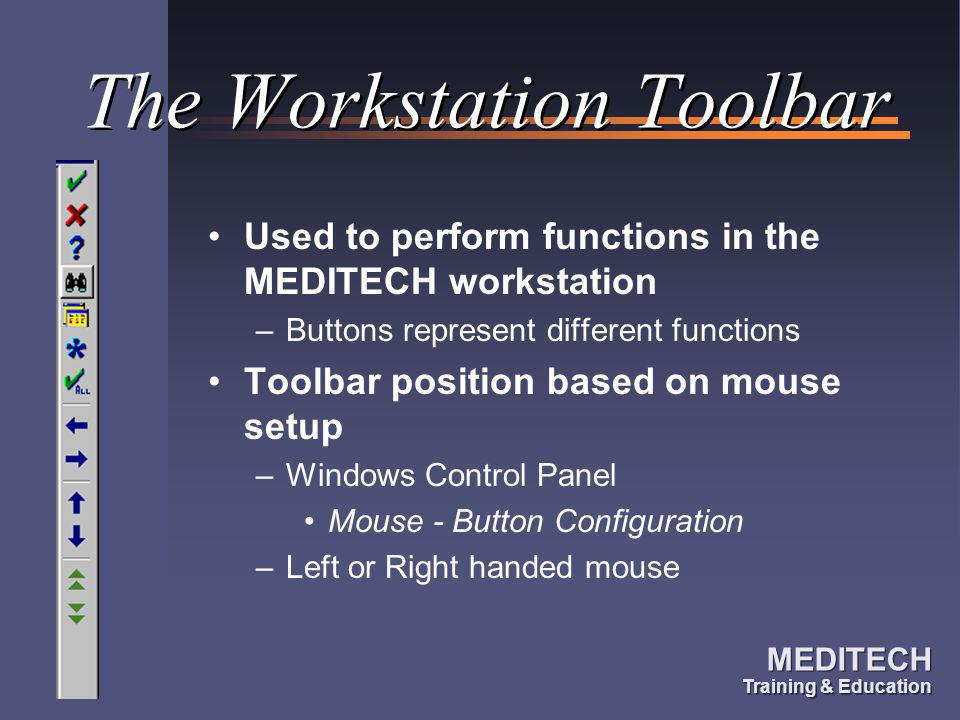 The Workstation Toolbar