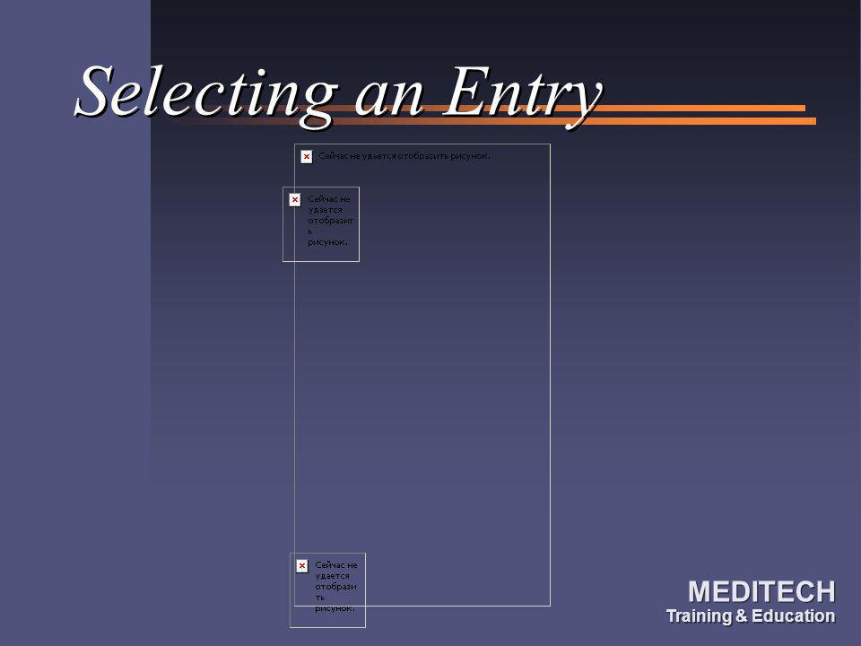 Selecting an Entry
