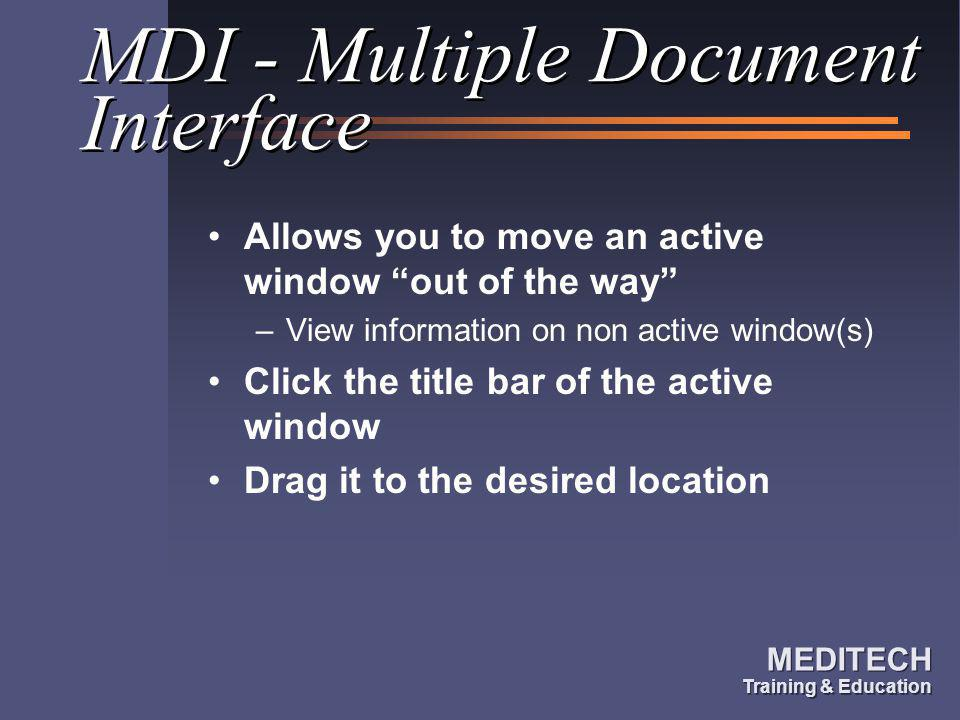 MDI - Multiple Document Interface