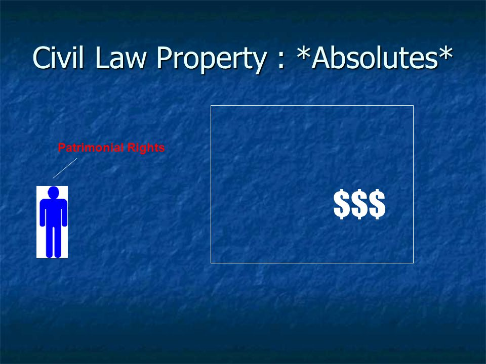 Civil Law Property : *Absolutes*