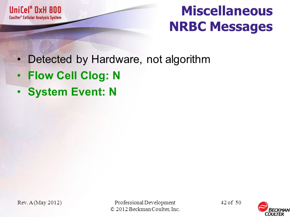 Miscellaneous NRBC Messages