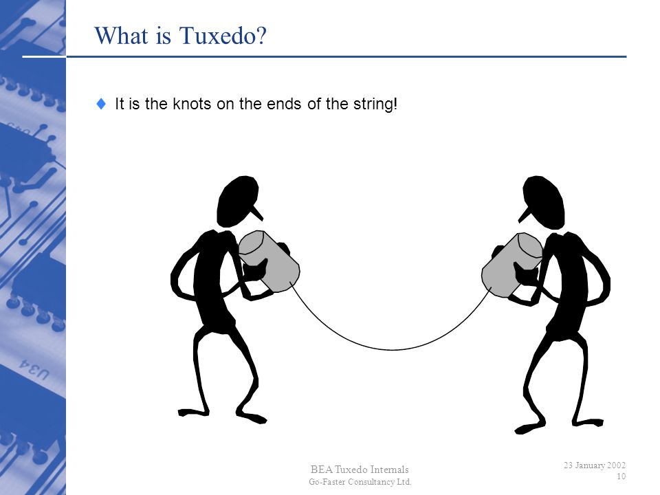 What is Tuxedo It is the knots on the ends of the string!