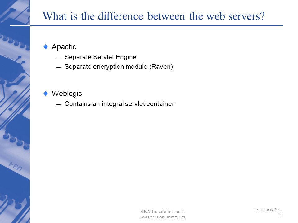 What is the difference between the web servers