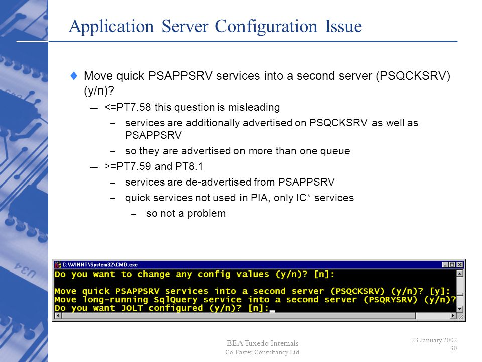 Application Server Configuration Issue