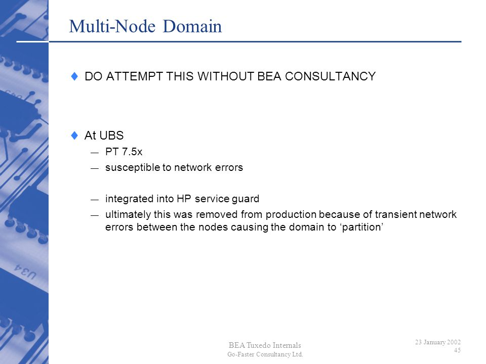 Multi-Node Domain DO ATTEMPT THIS WITHOUT BEA CONSULTANCY At UBS