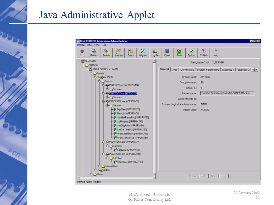 Java Administrative Applet