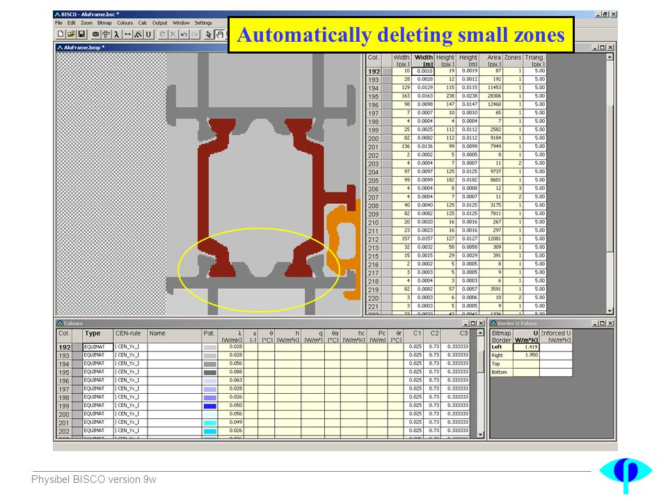 Automatically deleting small zones
