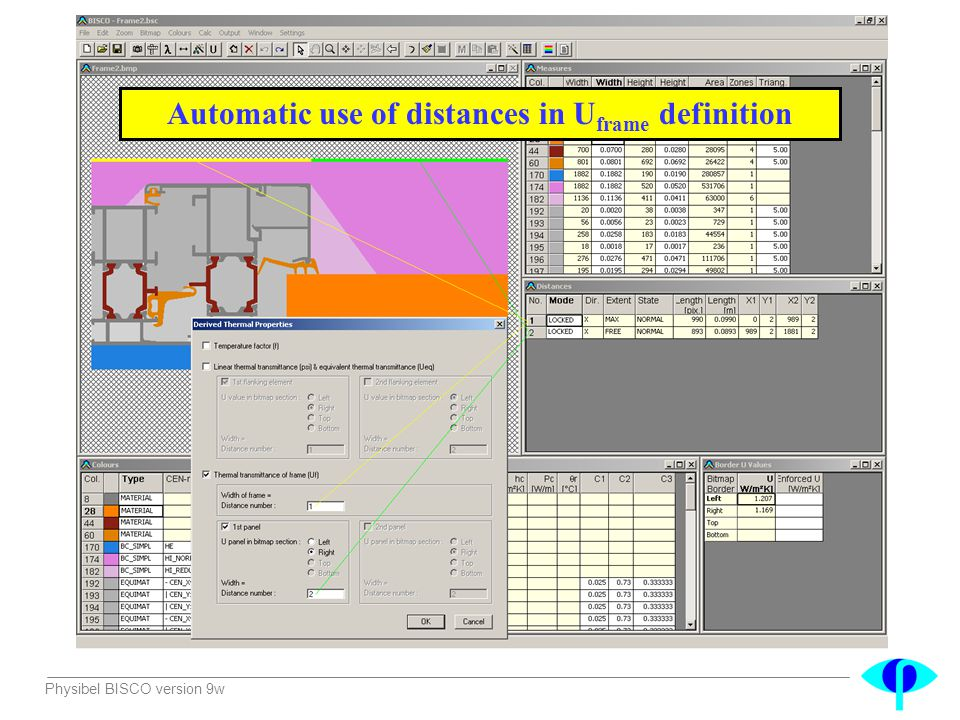 Automatic use of distances in Uframe definition
