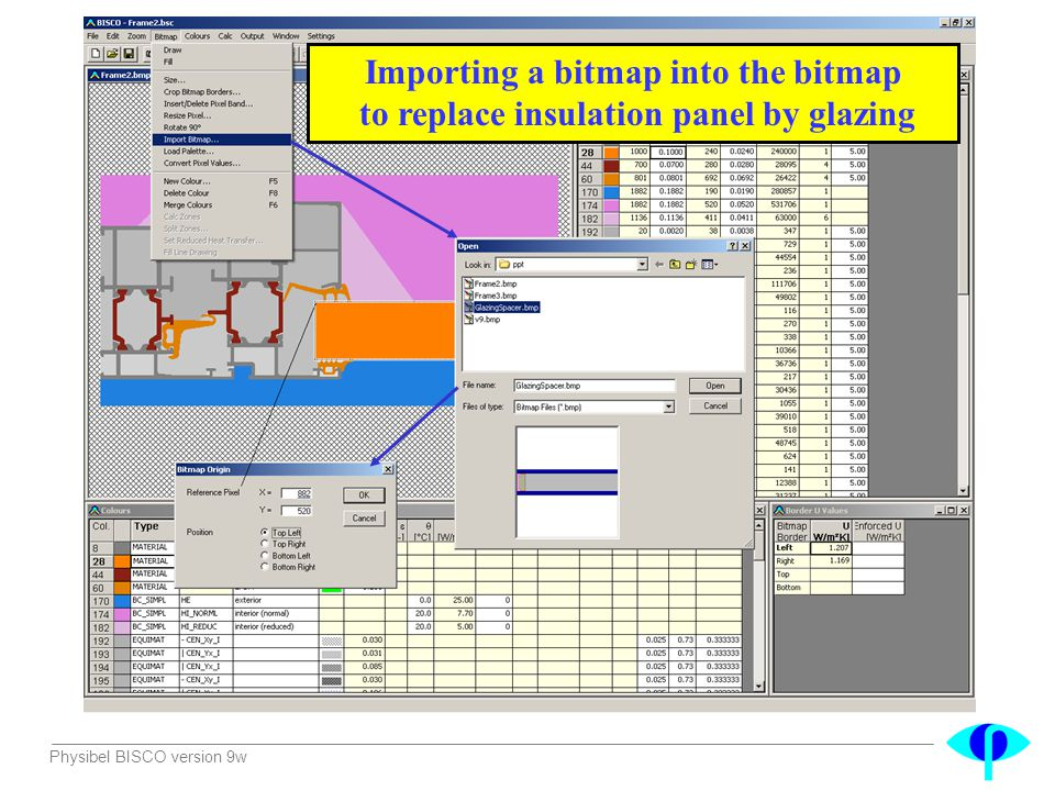 Importing a bitmap into the bitmap to replace insulation panel by glazing