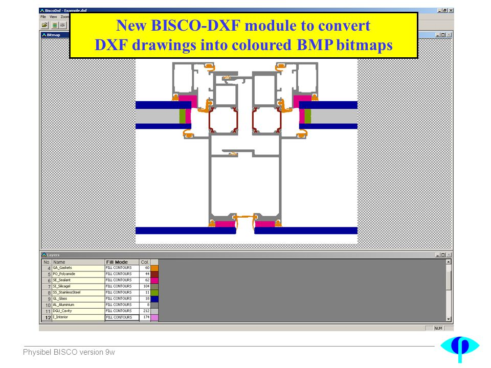 New BISCO-DXF module to convert DXF drawings into coloured BMP bitmaps