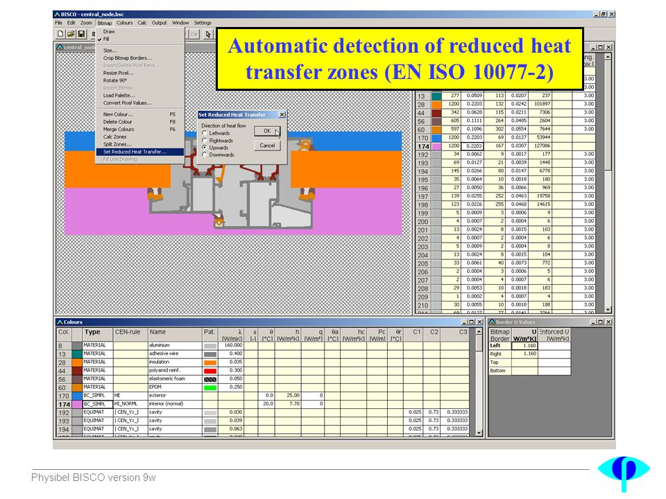 Automatic detection of reduced heat transfer zones (EN ISO 10077-2)