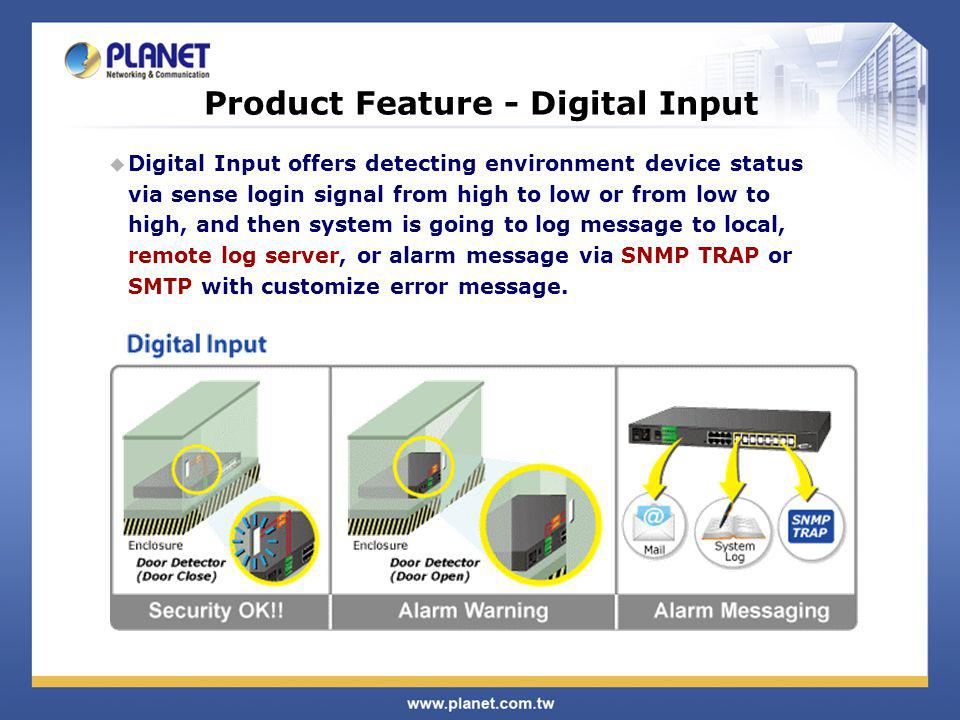 Product Feature - Digital Input