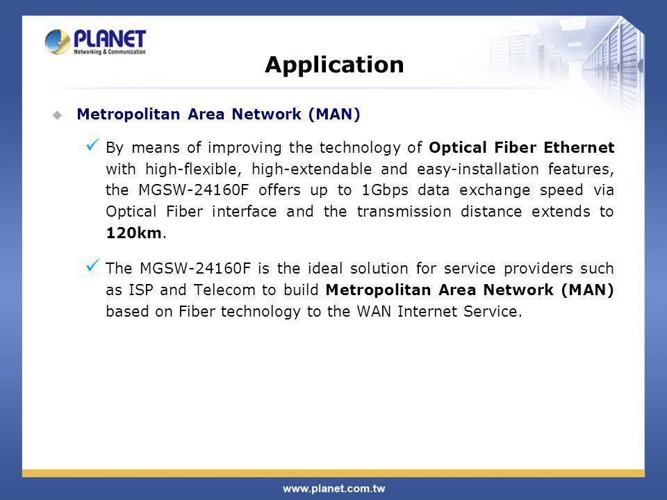 Application Metropolitan Area Network (MAN)