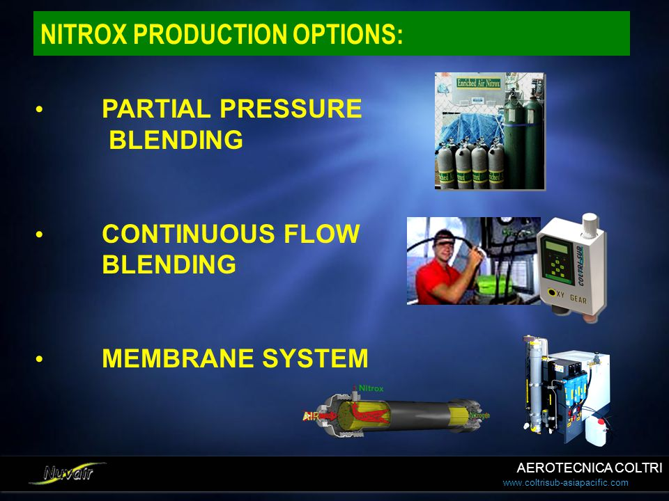 NITROX PRODUCTION OPTIONS:
