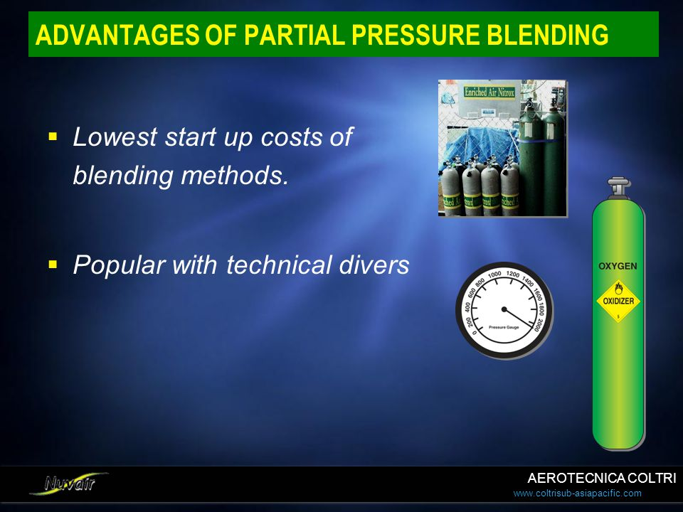 ADVANTAGES OF PARTIAL PRESSURE BLENDING
