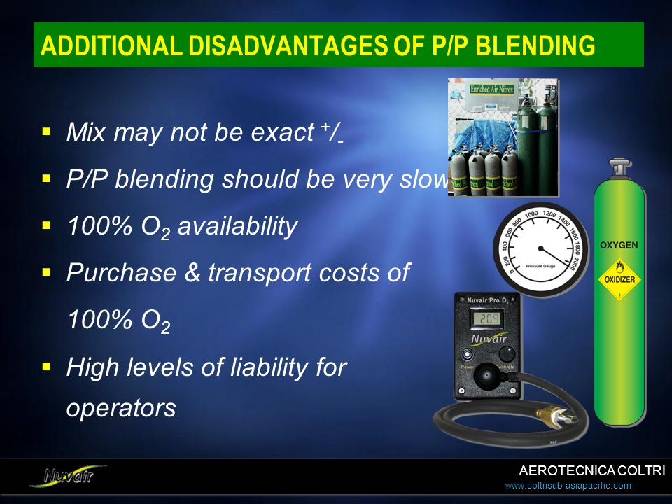 ADDITIONAL DISADVANTAGES OF P/P BLENDING