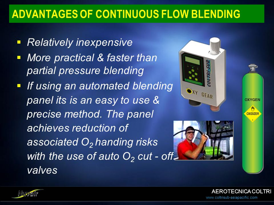 ADVANTAGES OF CONTINUOUS FLOW BLENDING