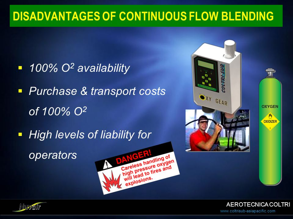 DISADVANTAGES OF CONTINUOUS FLOW BLENDING