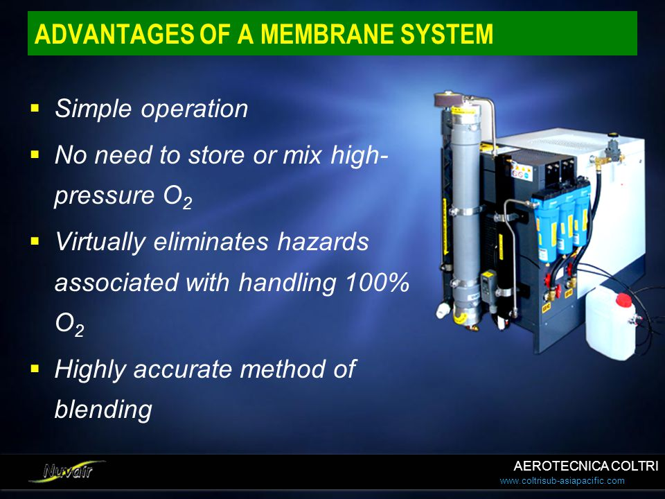 ADVANTAGES OF A MEMBRANE SYSTEM