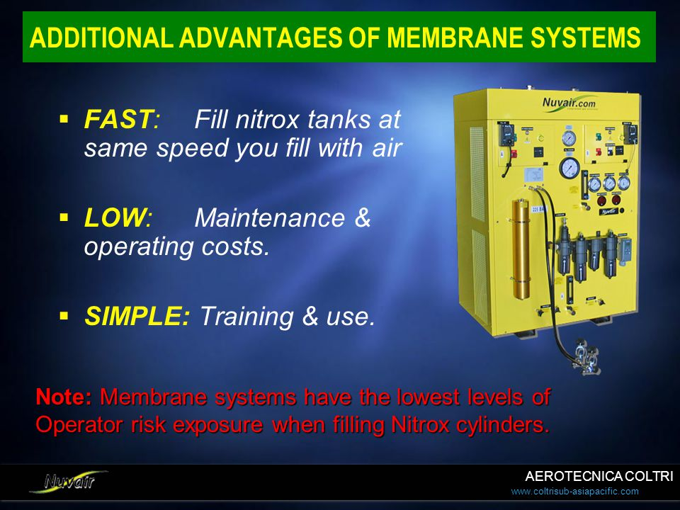ADDITIONAL ADVANTAGES OF MEMBRANE SYSTEMS