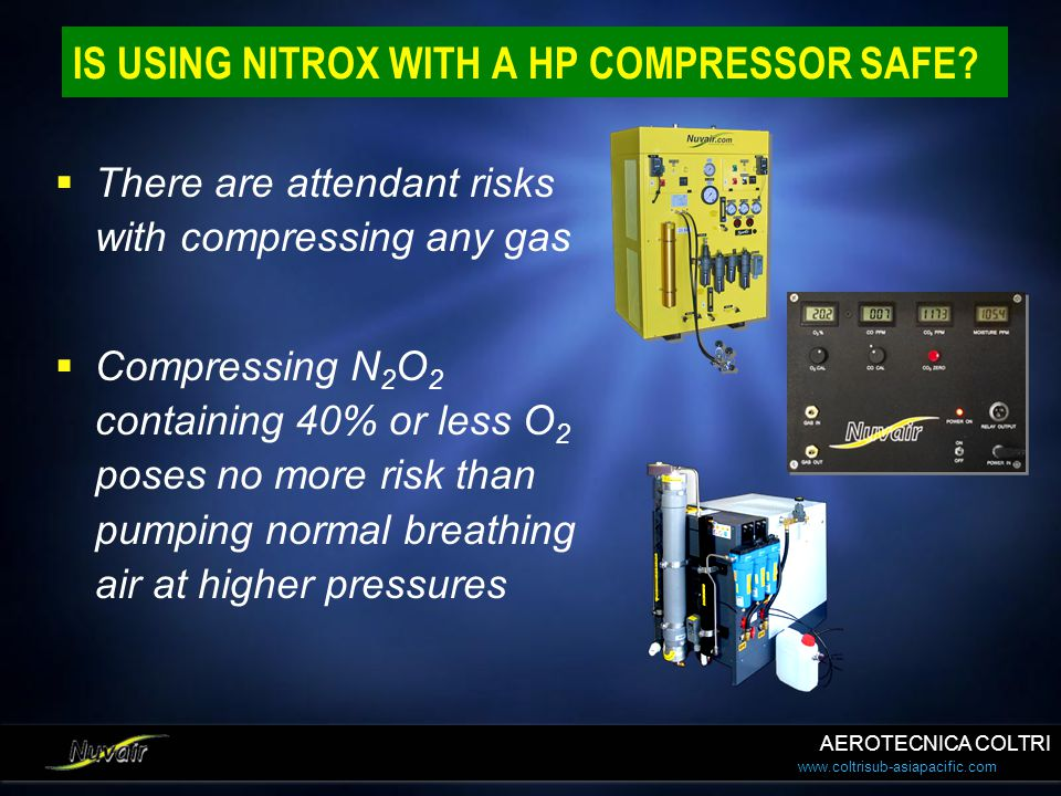 IS USING NITROX WITH A HP COMPRESSOR SAFE
