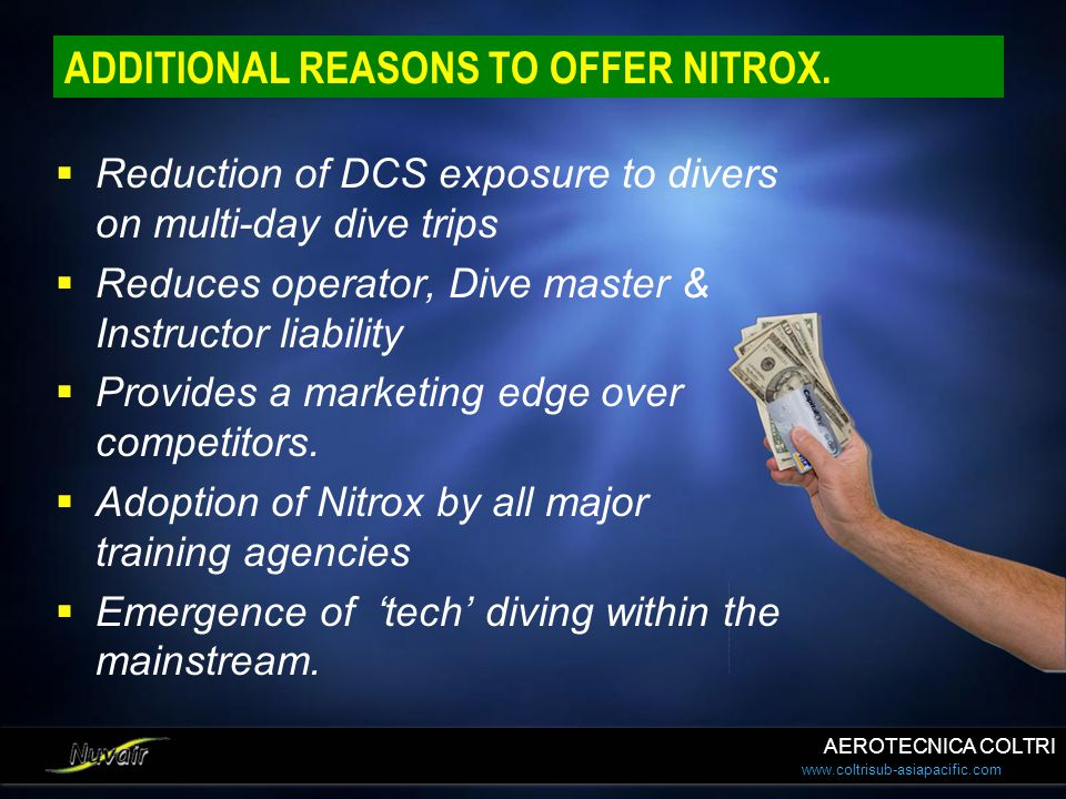 ADDITIONAL REASONS TO OFFER NITROX.
