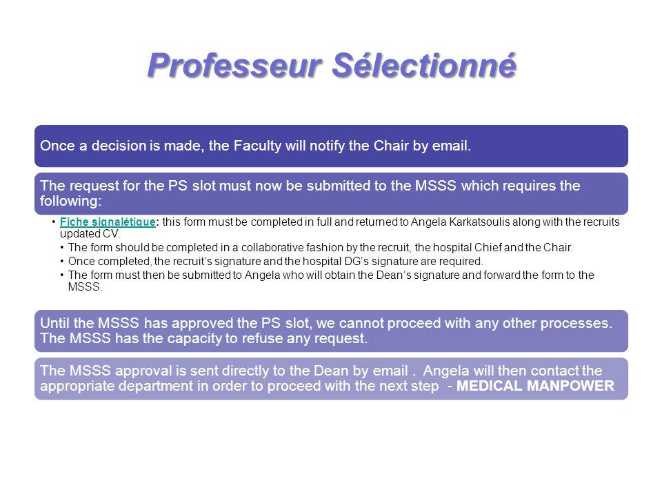 Professeur Sélectionné