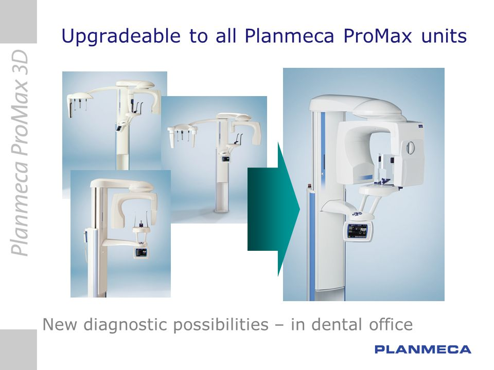 Upgradeable to all Planmeca ProMax units