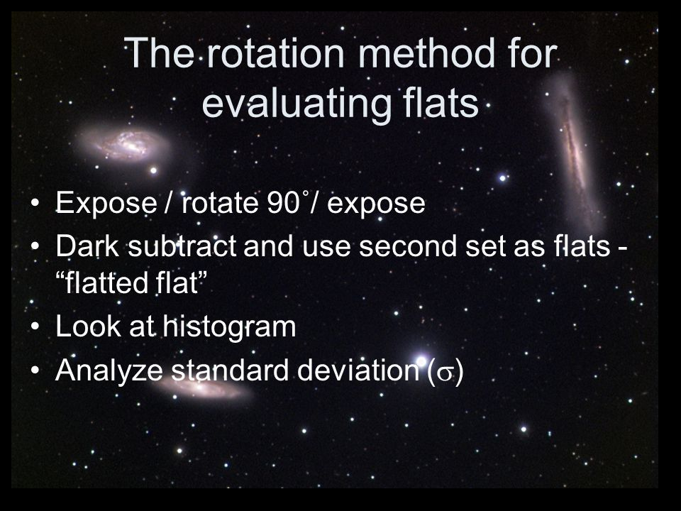 The rotation method for evaluating flats