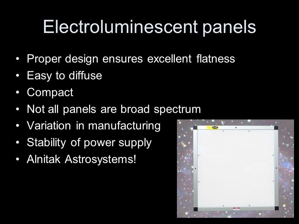 Electroluminescent panels
