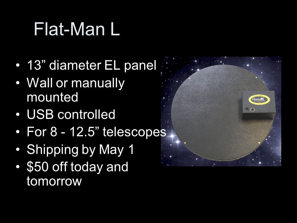 Flat-Man L 13 diameter EL panel Wall or manually mounted