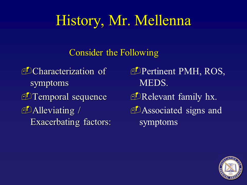 History, Mr. Mellenna Consider the Following