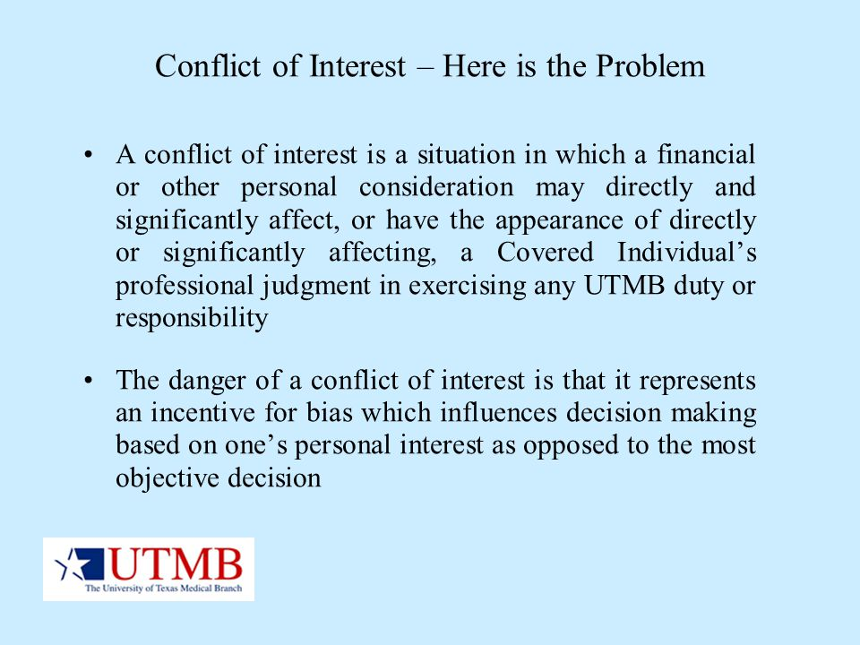 Bias and conflict of interest