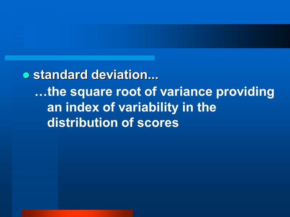 standard deviation...