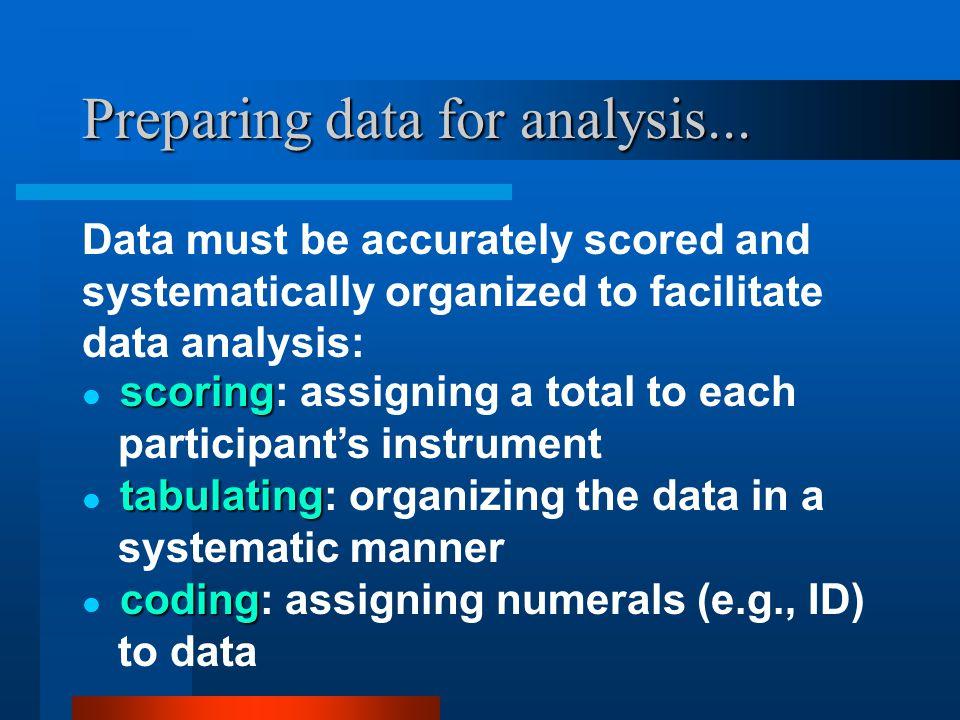 Preparing data for analysis...