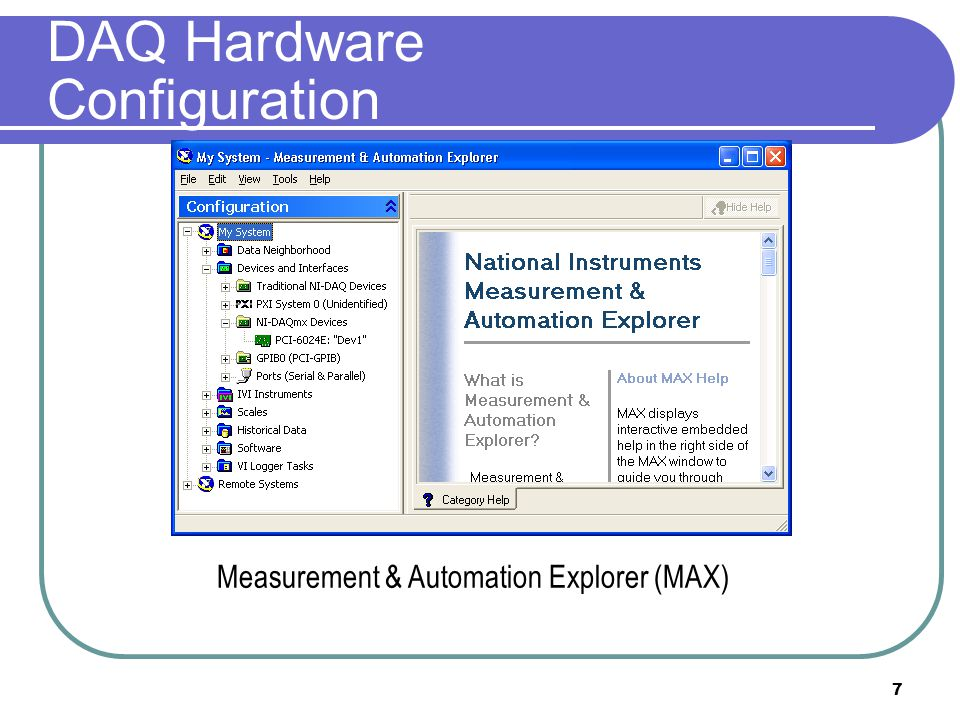 DAQ Hardware Configuration
