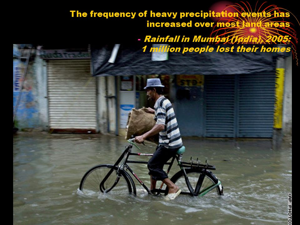 The frequency of heavy precipitation events has increased over most land areas