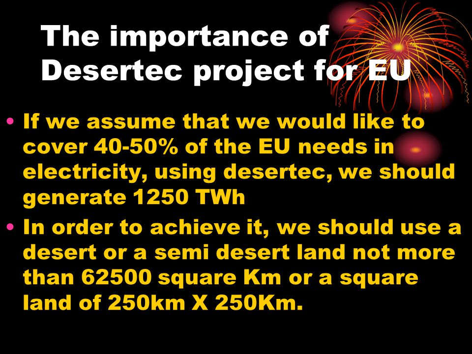 The importance of Desertec project for EU