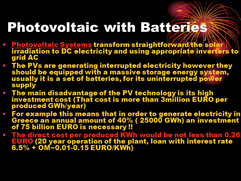 Photovoltaic with Batteries