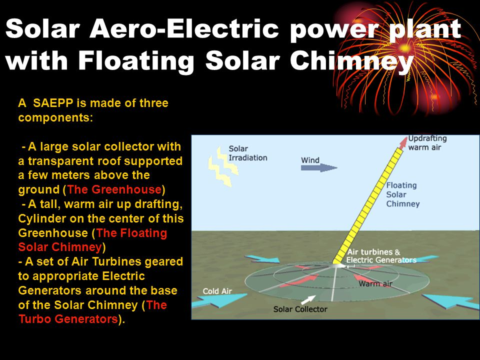 Solar Aero-Electric power plant with Floating Solar Chimney