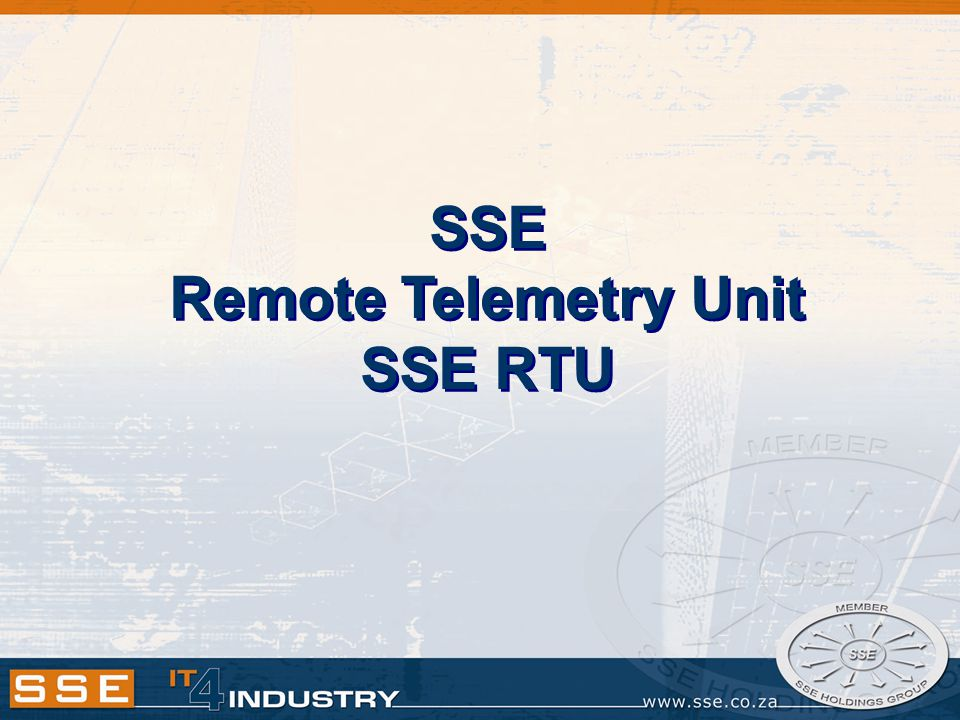 SSE Remote Telemetry Unit SSE RTU