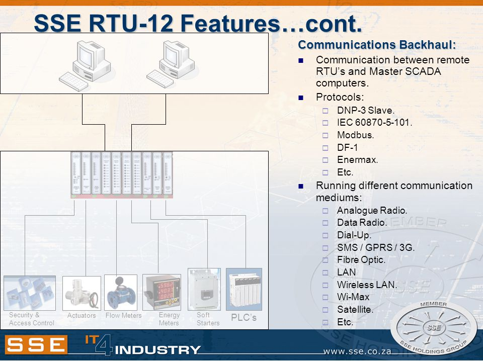 SSE RTU-12 Features…cont.