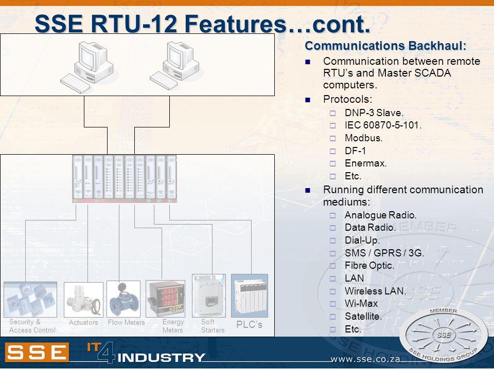 SSE RTU-12 Features…cont.