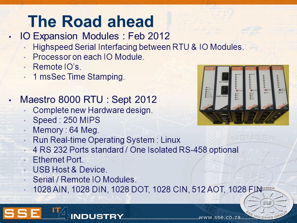 The Road ahead IO Expansion Modules : Feb 2012