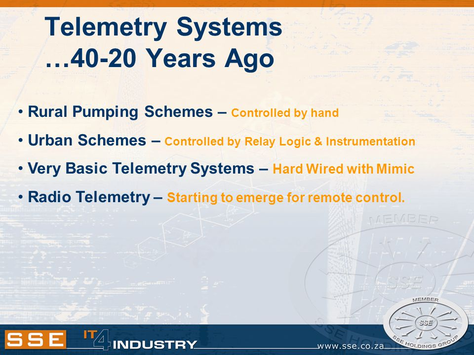 Telemetry Systems …40-20 Years Ago