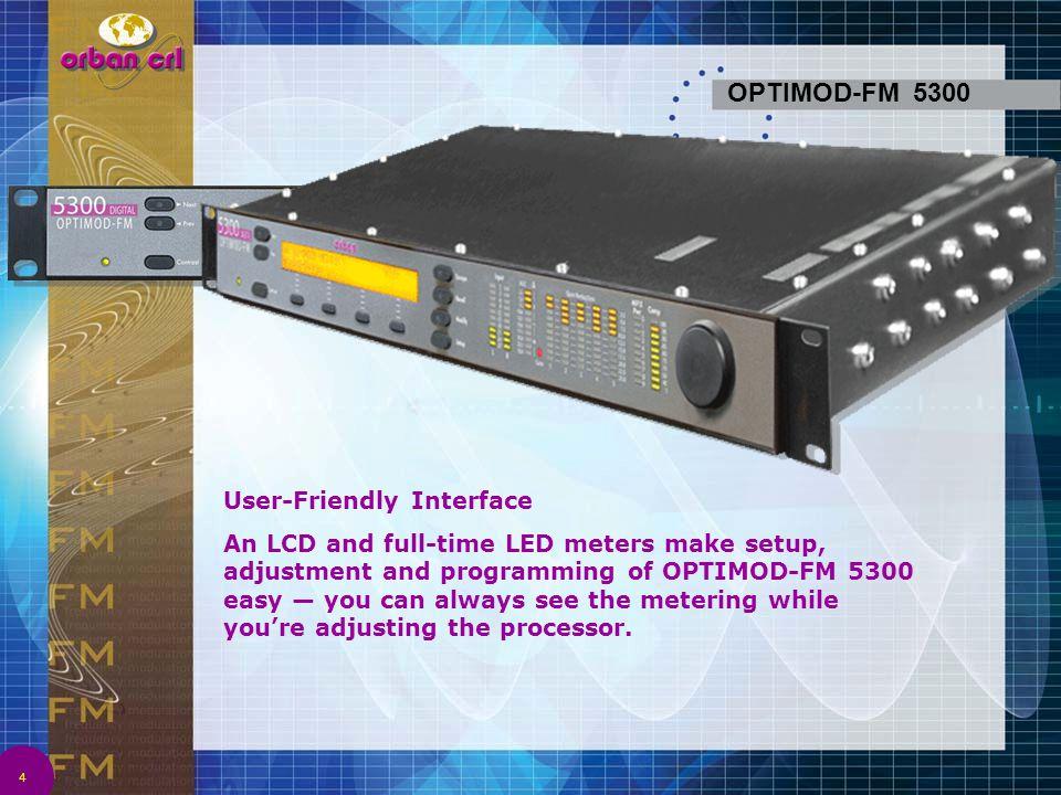 OPTIMOD-FM 5300 User-Friendly Interface