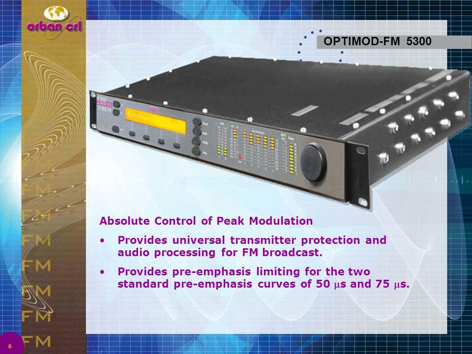 OPTIMOD-FM 5300 Absolute Control of Peak Modulation
