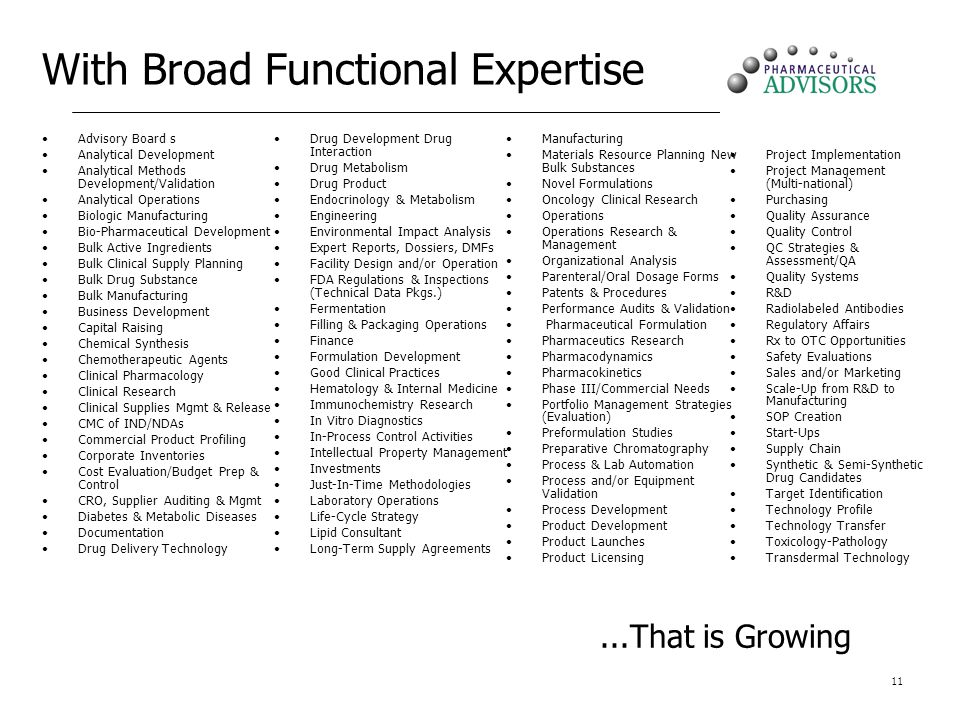 With Broad Functional Expertise