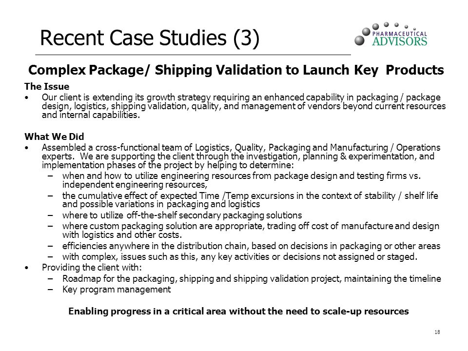 Complex Package/ Shipping Validation to Launch Key Products