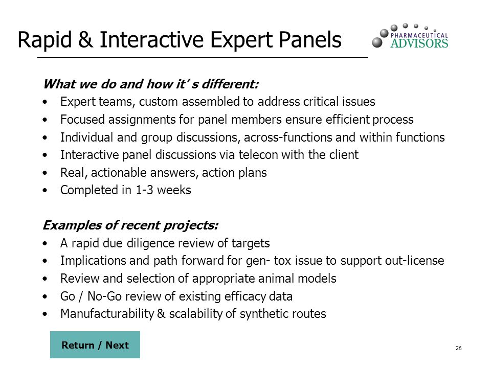 Rapid & Interactive Expert Panels
